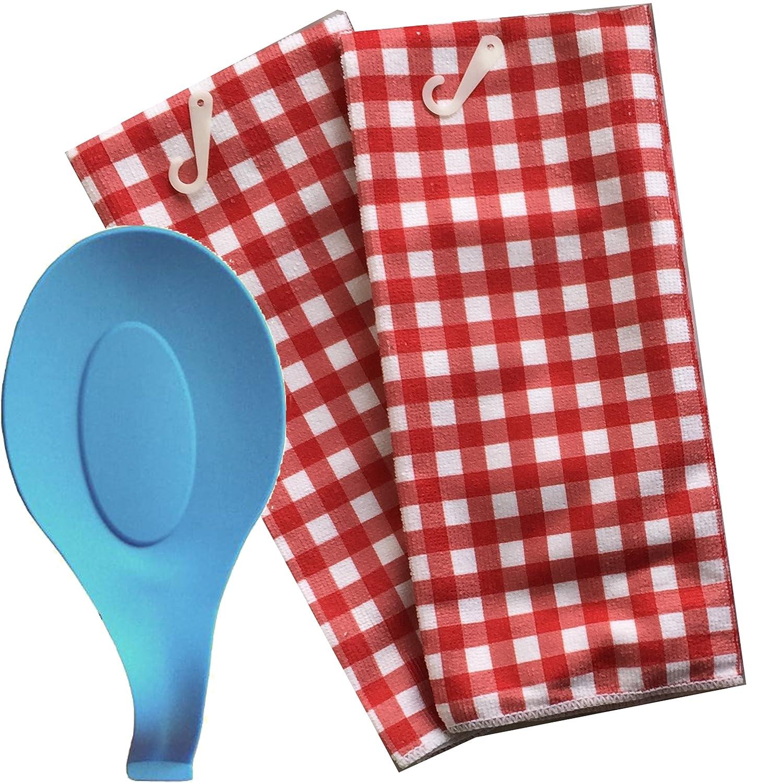 Home Collection 2 Piece Kitchen Microfiber Towel Set ~ Emoji Fun Christmas 3 Pc Pot Holder Set Santa