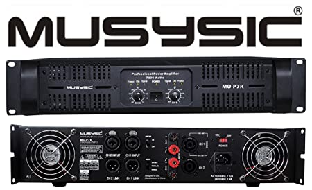 Amazon.com: MUSYSIC Professional 2 Channel 7000 Watts DJ PA Power Amplifier Signal out MU-P7K: Musical Instruments