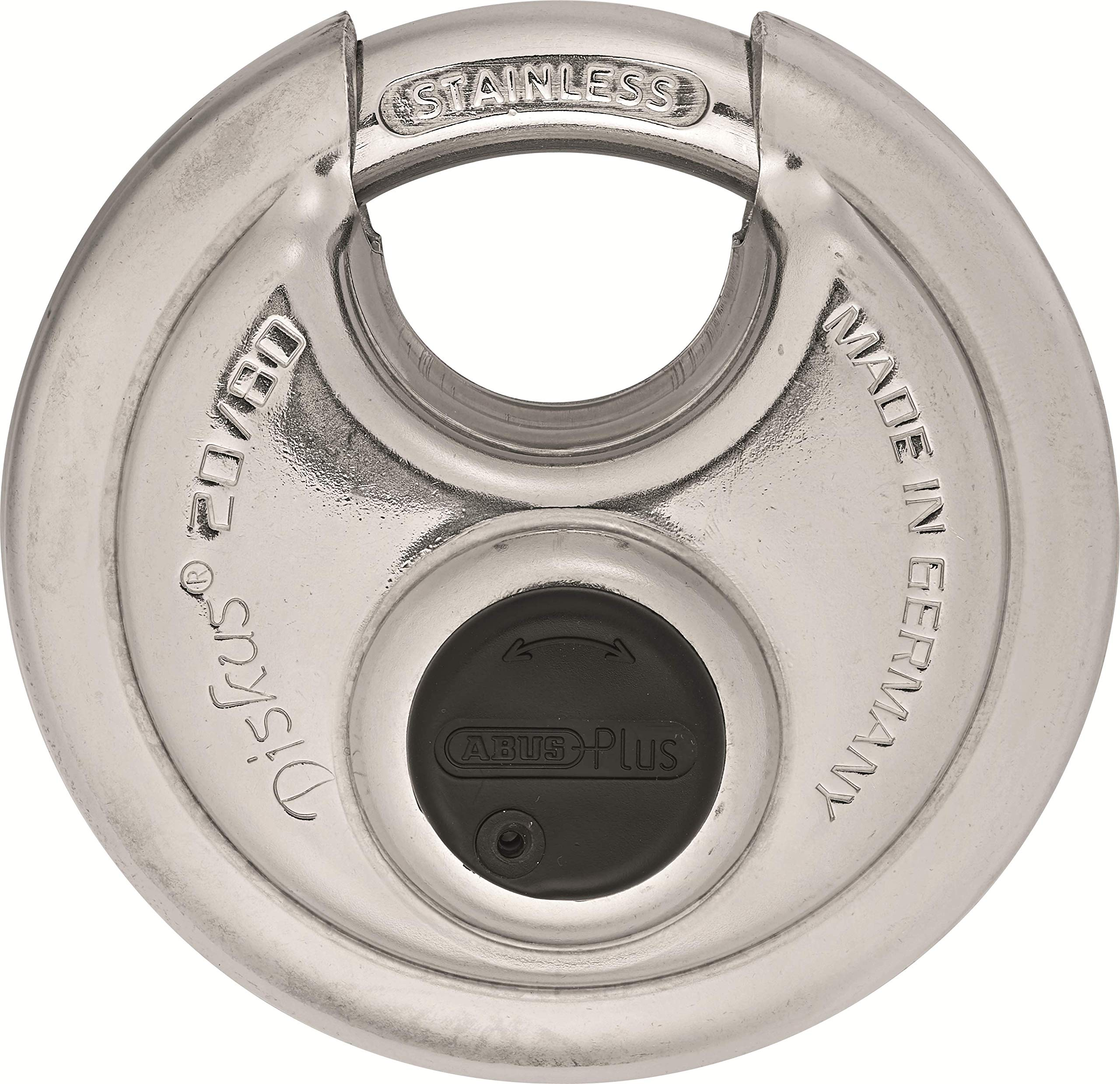 ABUS 20/80 Diskus Stainless Steel Padlock Keyed Different by ABUS
