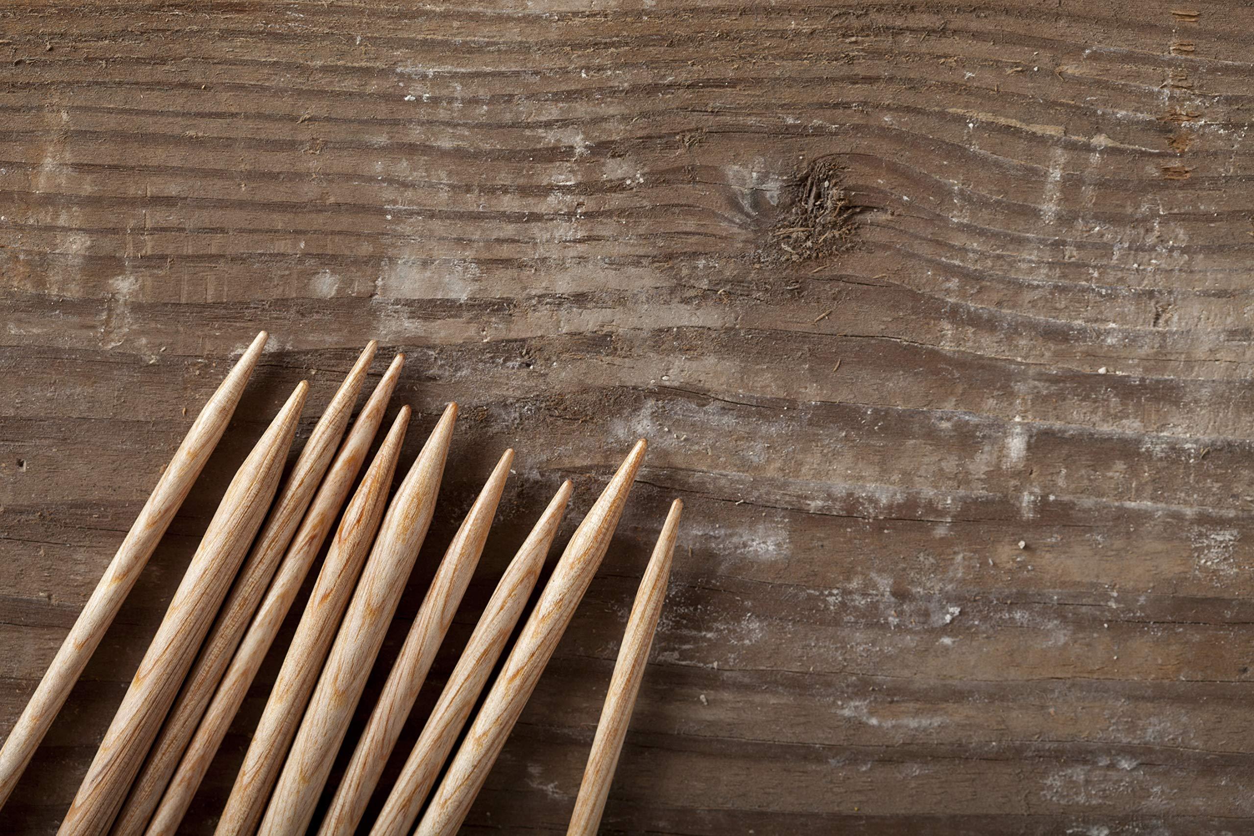 Knit Picks Wood Straight Single Point Knitting Needle Set US 4-11 (14'' - Sunstruck)