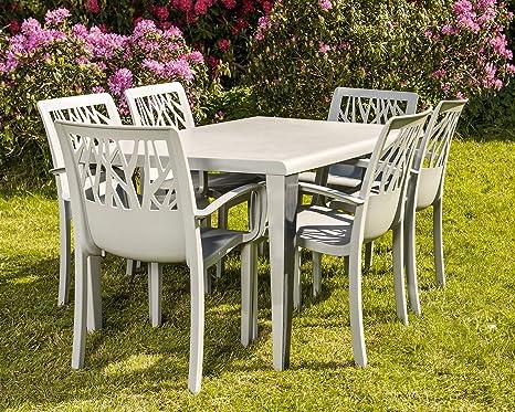Grosfillex Vegetal Chaise pour salon de jardin table et 6 ...