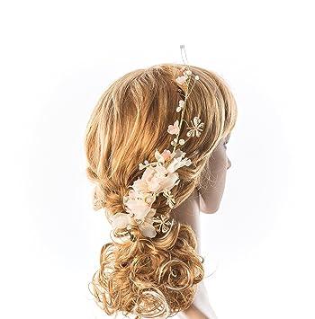 Simple Hair vine Thin Baby s breath Hair jewelry Pearl spirited Bride hair  accessories Dainty Wedding hair 4120aabc6dcf