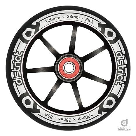 Distrito 120 mm LP Core – Rueda para patinete de aleación de 28 mm de ancho