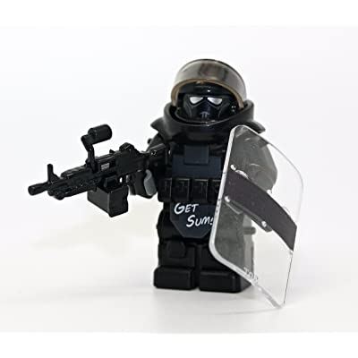 Modern Brick Warfare Custom Juggernaut Army Assault Soldier Call of Duty Clear Custom Minifigure: Toys & Games