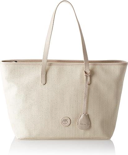 Segundo grado Dime Hija  Timberland Women's TB0M5559 Shoulder Bag, Beige (Boulder), 16.5x27.5x45.5  centimeters (W x H x L): Amazon.co.uk: Shoes & Bags