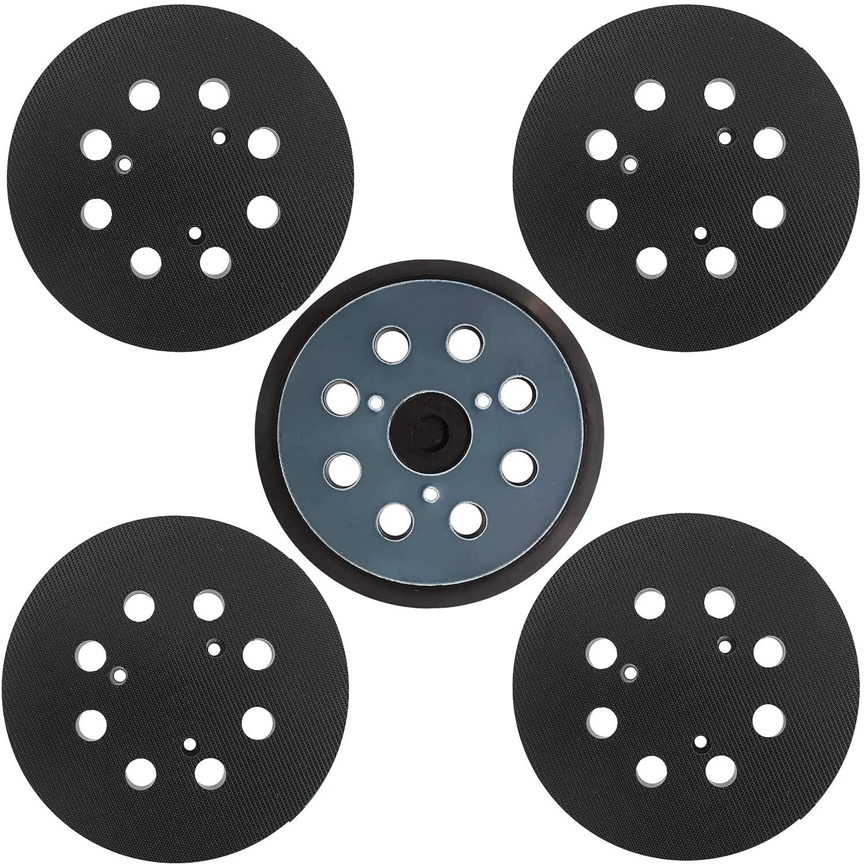 Tockrop 5 Pack 5 inch 8 Hole Sander Hook and Loop Replacement Pad for DeWalt DW420, DW421, Dw423, DW426, D26451, D26453 Orbital Sander