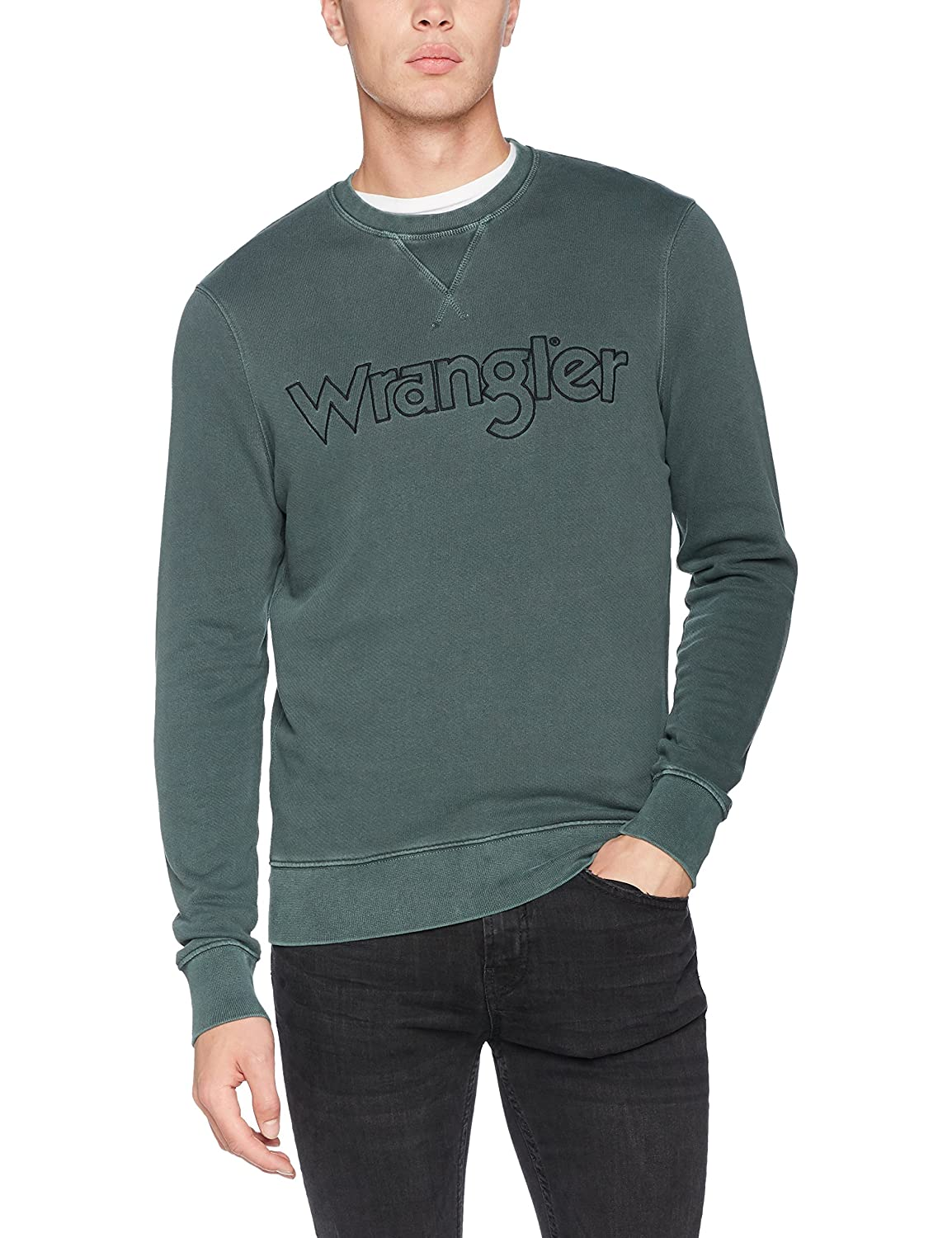 Wrangler Authentic Crew Sweat Gables Sudadera para Hombre