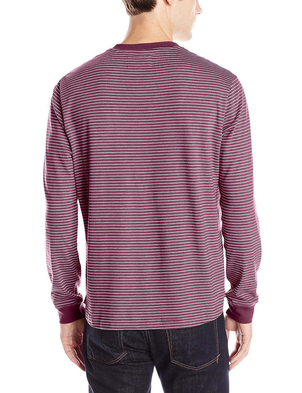 Original Camisa Penguin hombre hombre heather-stripe Henley Italian ...