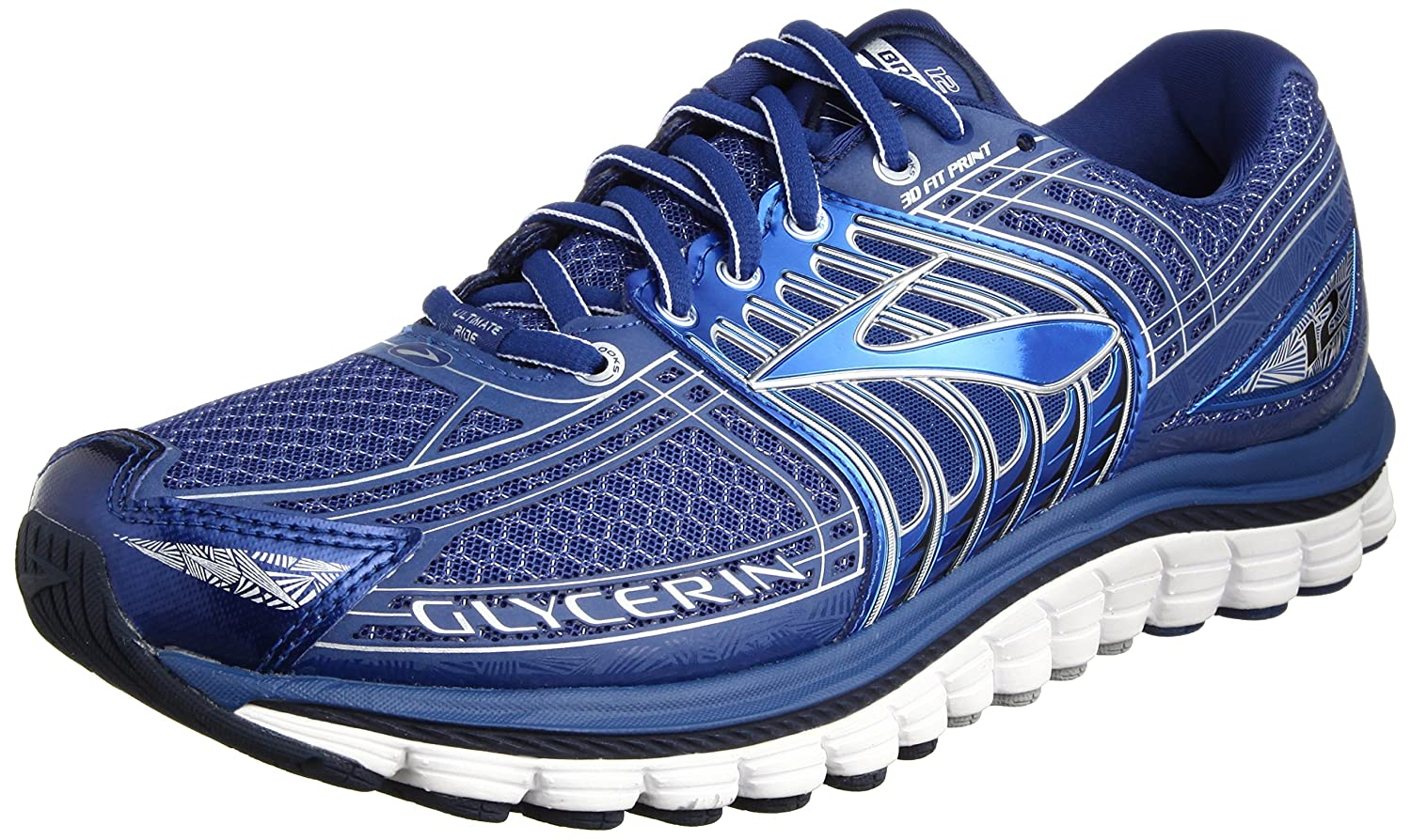 MMen's 12 Glycerin blue Brooks ShoesM bluesilvers Running 5 10 UMpqzVS