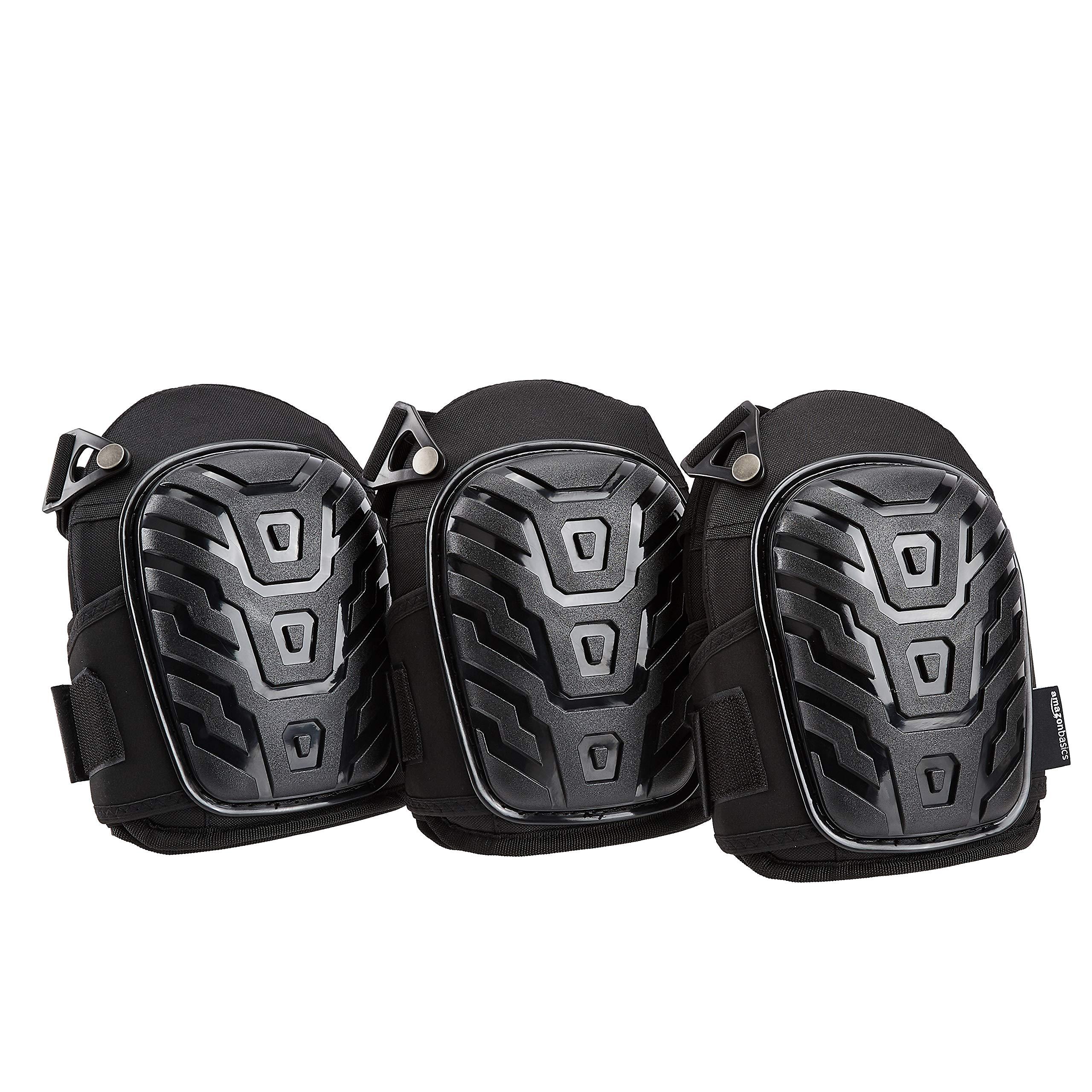 AmazonBasics Professional Gel Cushion Knee Pads,Black, 3-Pair