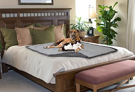 Waterproof Dog Blanket,Pet Pee Proof Couch Cover For Bed Sofa Car  Seat,Reversible