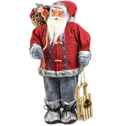 Father Christmas Images Free.18 Large Free Standing Santa Claus Father Christmas Figure Xmas Decoration