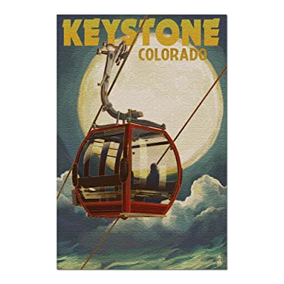 Keystone, Colorado - Gondola and Full Moon (Premium 1000 Piece Jigsaw Puzzle for Adults, 20x30, Made in USA!): Toys & Games