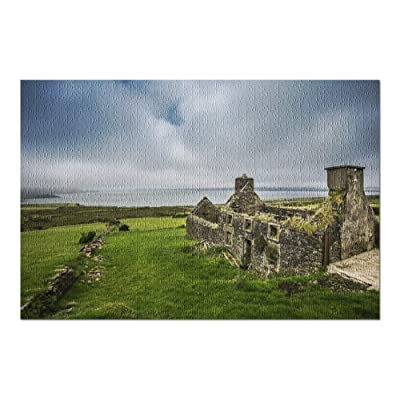 Ancient Stone House Ruins in Ireland 9003237 (Premium 1000 Piece Jigsaw Puzzle for Adults, 20x30, Made in USA!): Toys & Games