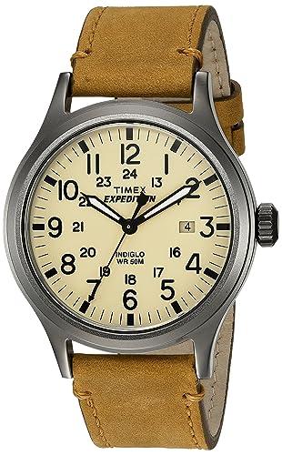a3eb17f90fc5 Timex Reloj Analógico para Hombre de Cuarzo con Correa en Cuero TWC001200   Amazon.es  Relojes