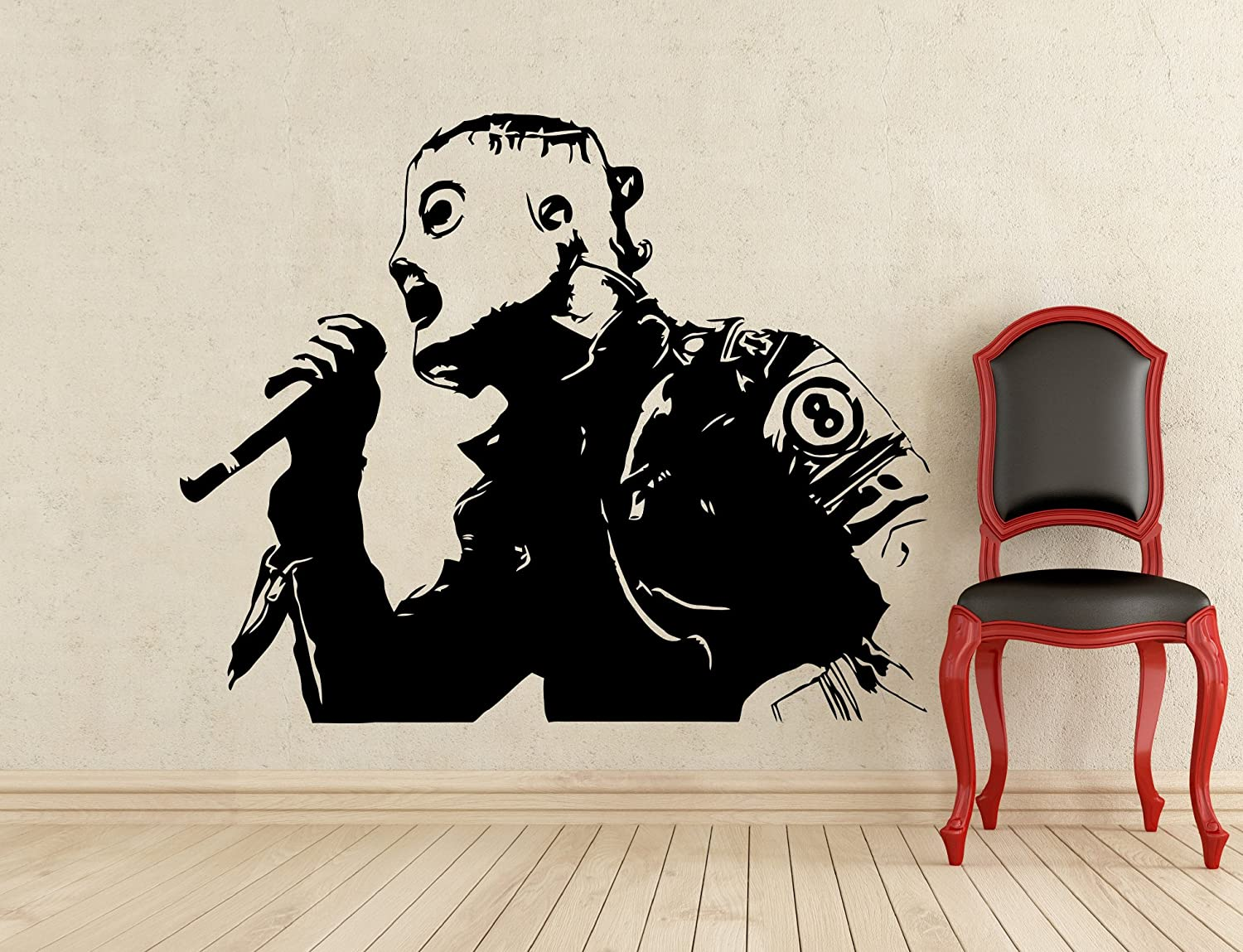 corey taylor slipknot wall decal music vinyl sticker home art wall corey taylor slipknot wall decal music vinyl sticker home art wall decor mural removable waterproof decal 218s amazon com