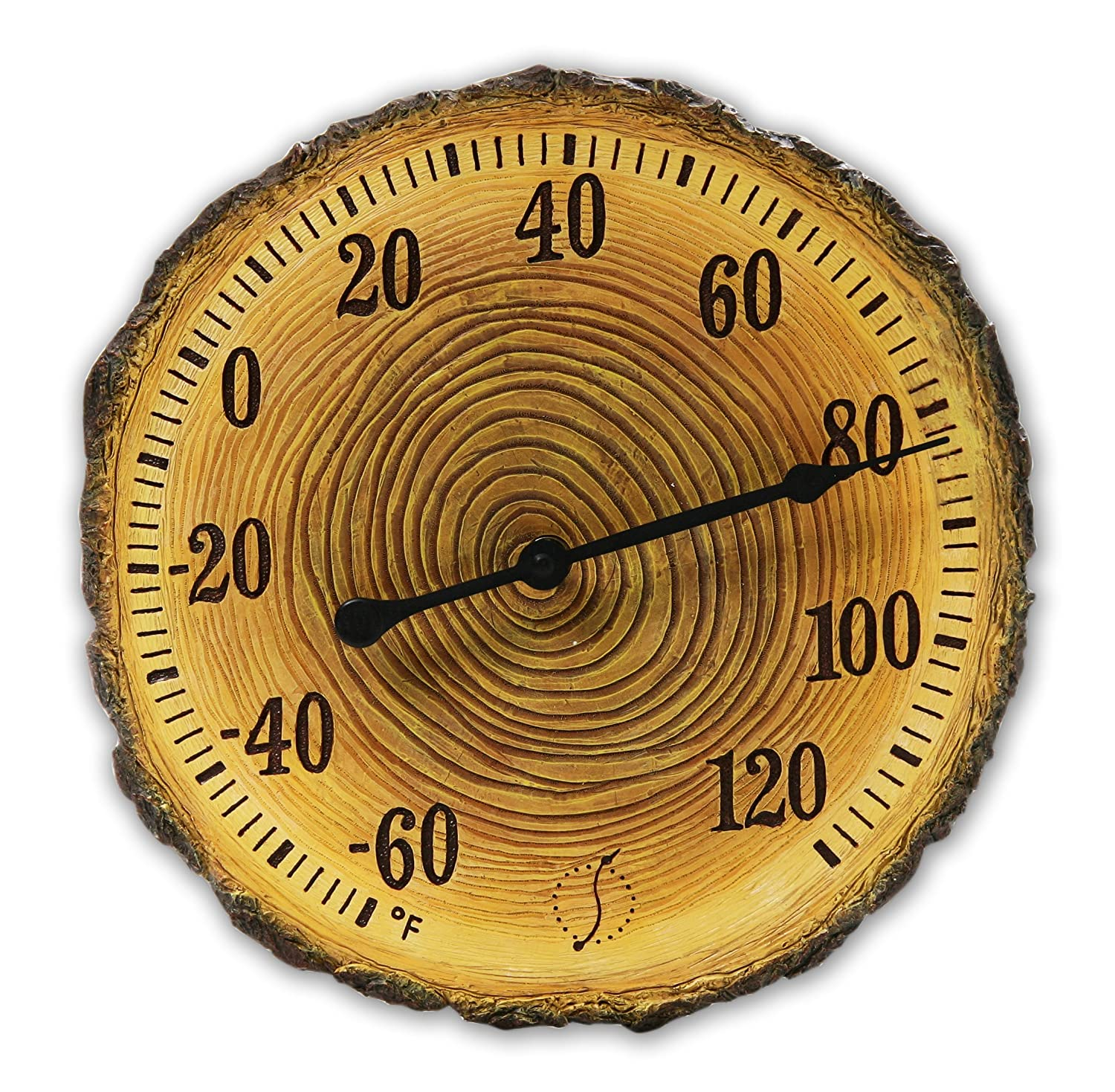 Amazon springfield 91719 12 tree trunk cross section amazon springfield 91719 12 tree trunk cross section polystone thermometer outdoor thermometers garden outdoor amipublicfo Gallery