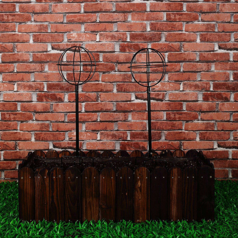 Amazon.com : 2 Packs Garden Obelisk Metal Trellis Flower Support for ...