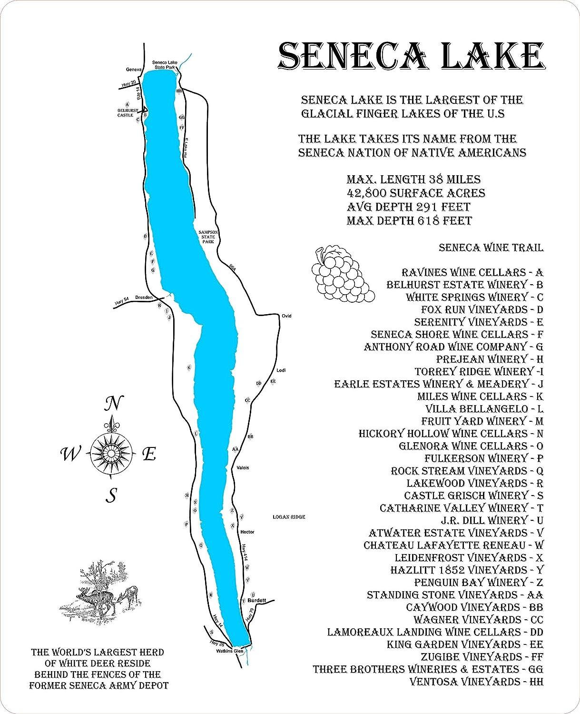 map of seneca lake Amazon Com Seneca Lake And Seneca Wine Trail Framed Wood Map map of seneca lake