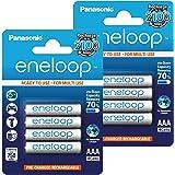 Panasonic AAA BK-4MCCE Eneloop – vorgeladen - sehr geringe Entladung LSD - 2100 Zyklen – 8 Stück