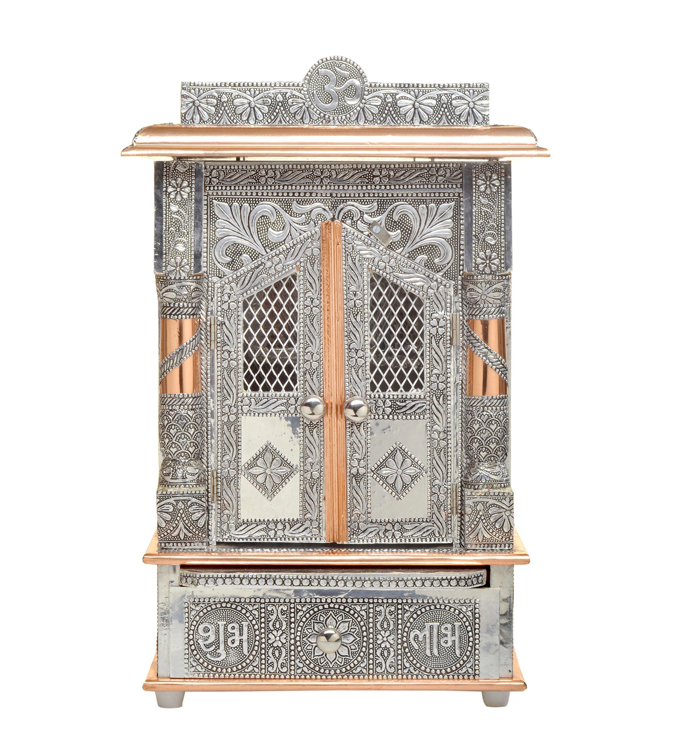 Movie Time Vdieo 59069-DS Hindu Puja Mandir/Temple/Alter, Aluminum Plated with Doors
