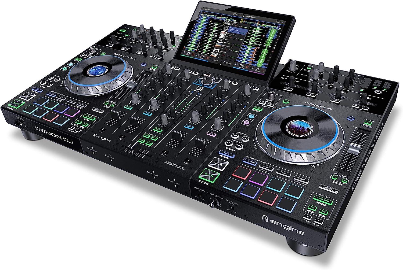 Denon DJ PRIME 4 | 4 Deck Standalone Smart DJ Console / Serato DJ Controller with Built-In 4 Channel Digital Mixer and 10-Inch Touchscreen