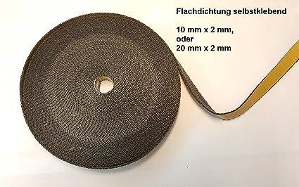Cinta de fibra de vidrio plana para estufas, tubos o ahumadores, 10 x 2