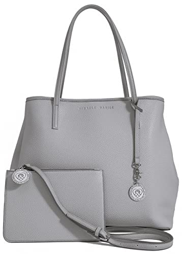 647b94f557 Amazon.com: Vegan Leather Tote for Women - Large Ladies Handbag Bag Purse  with Bonus Gift Cross Body Pouch Included - Dove Grey: Shoes