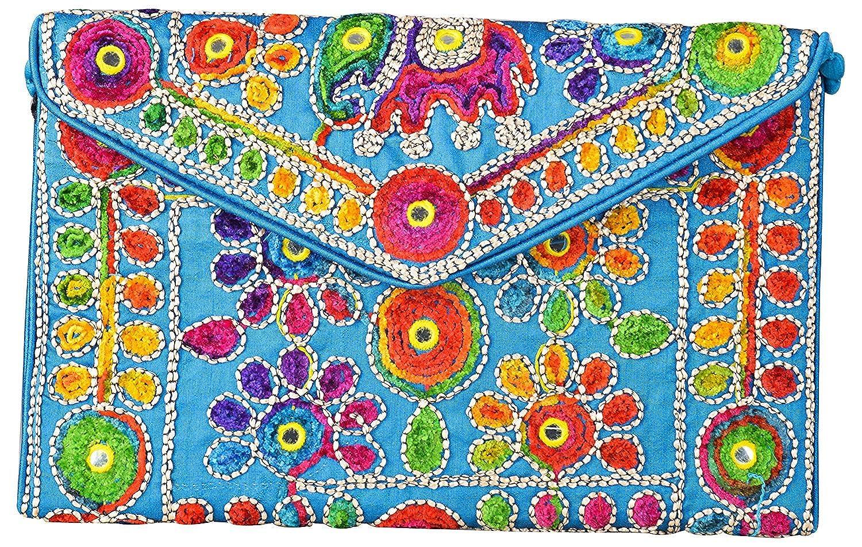 Rajasthani Jaipuri Art Sling Bag Foldover Clutch Purse-Quality Checked