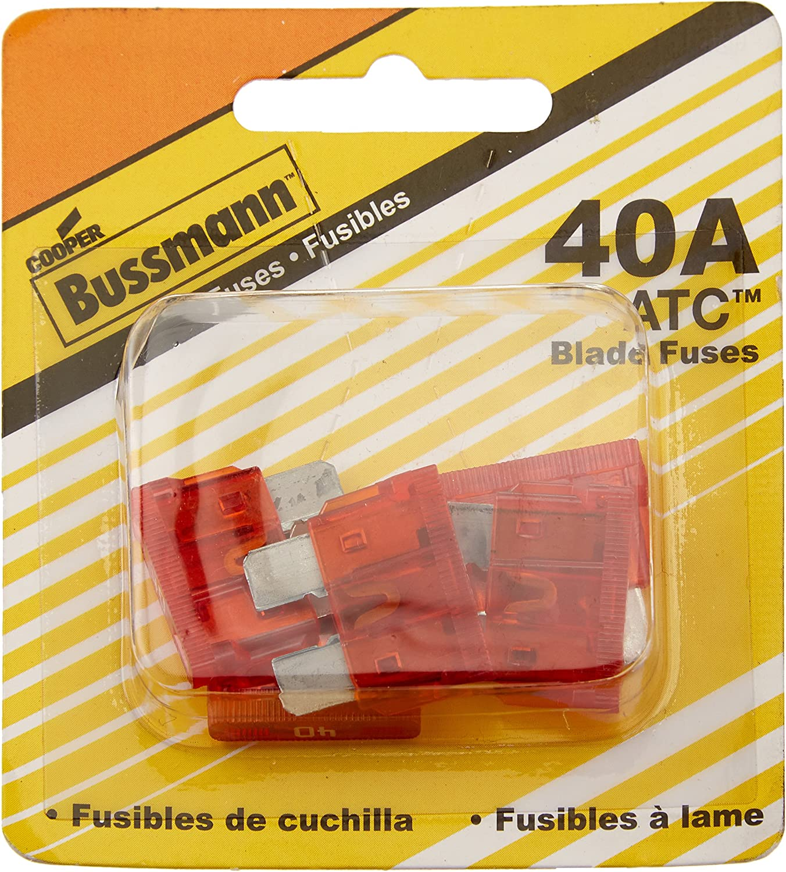 Amazon.com: Bussmann (BP/ATC-40-RP 40 Amp ATC Blade Fuse, Pack of 5:  AutomotiveAmazon.com