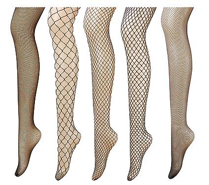 515dec3b7b91b PreSox Fishnet Tights Seamless Nylon Mesh Stockings Toeless Pantyhose for  Women 5 Pack (5B): Amazon.co.uk: Clothing