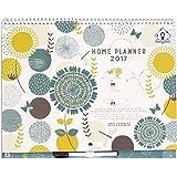 Organised Mum 2017 Home Planner Calendar - Calendario para las actividades de los niños, 2016/2017, en inglés, planifica las actividades de la familia, Comienza con el inicio del año académico (de septiembre de 2016 hasta diciembre de 2017), con grandes espacios, pegatinas, bolsillos y bolígrafo