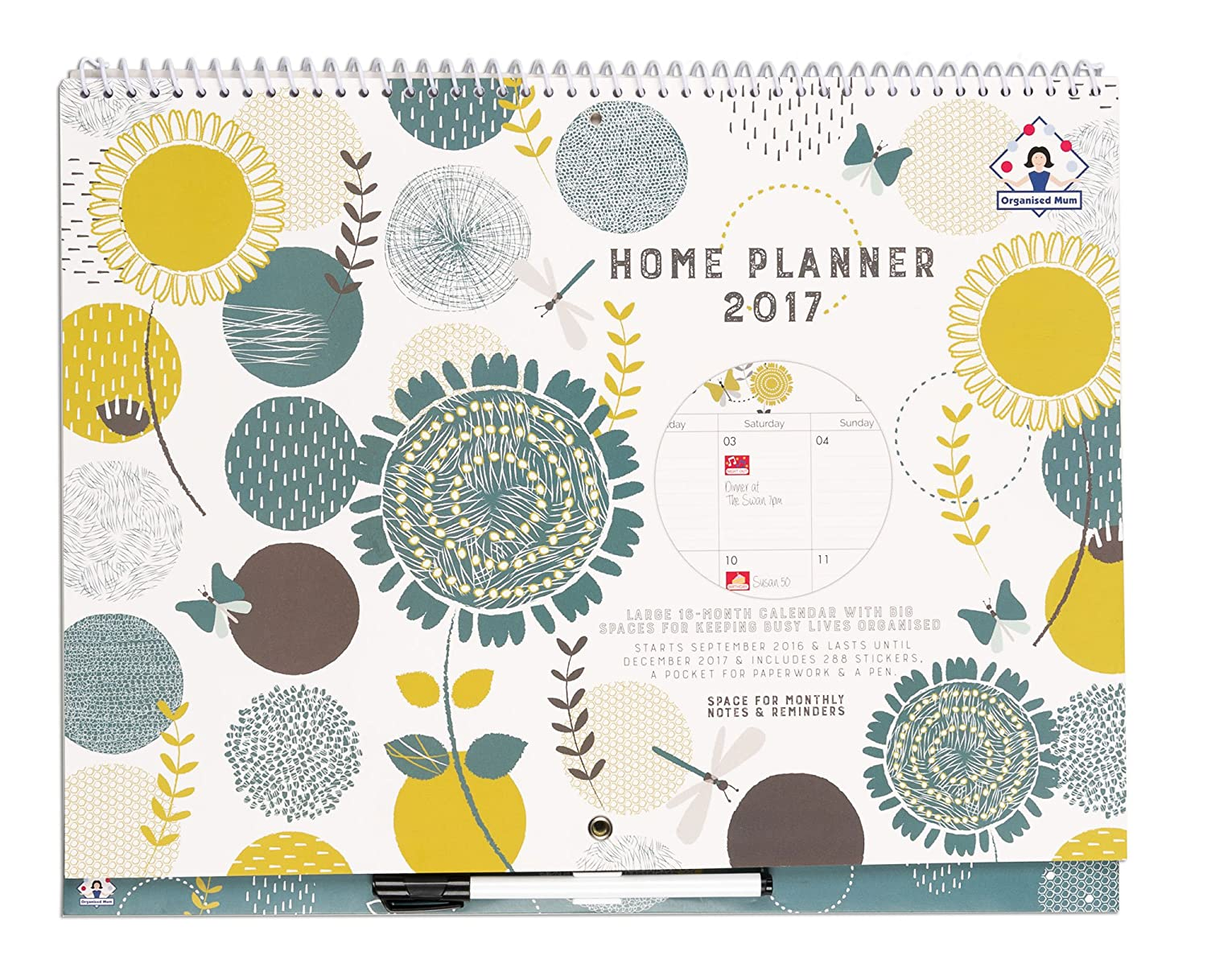 2017 organised mum home planner calendar month to view 2017