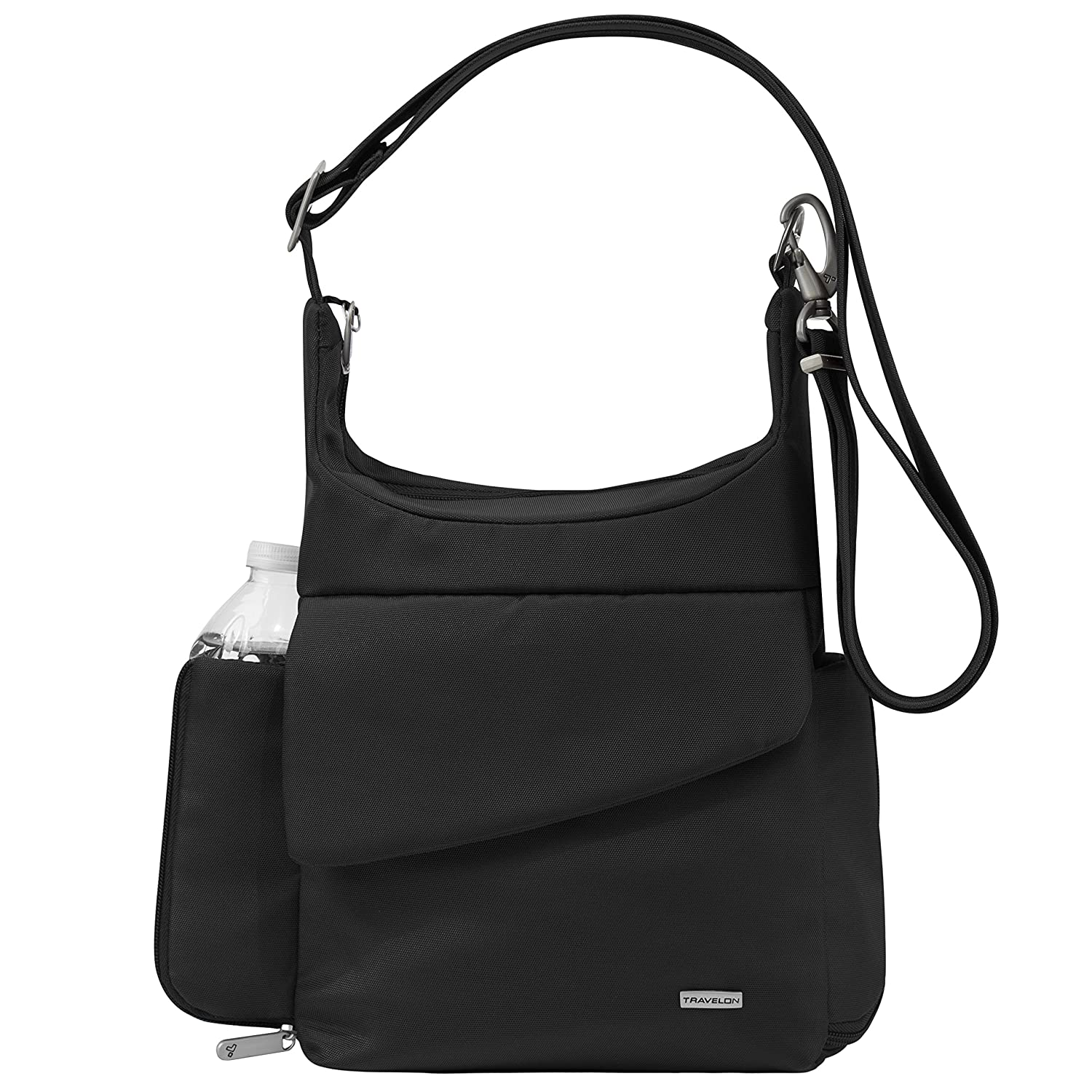 Travelon Anti-Theft Classic Messenger Bag, Black, One Size