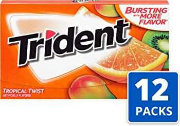 12-Pack Trident Tropical Twist Flavor Sugar Free Gum (168 Pieces Total)