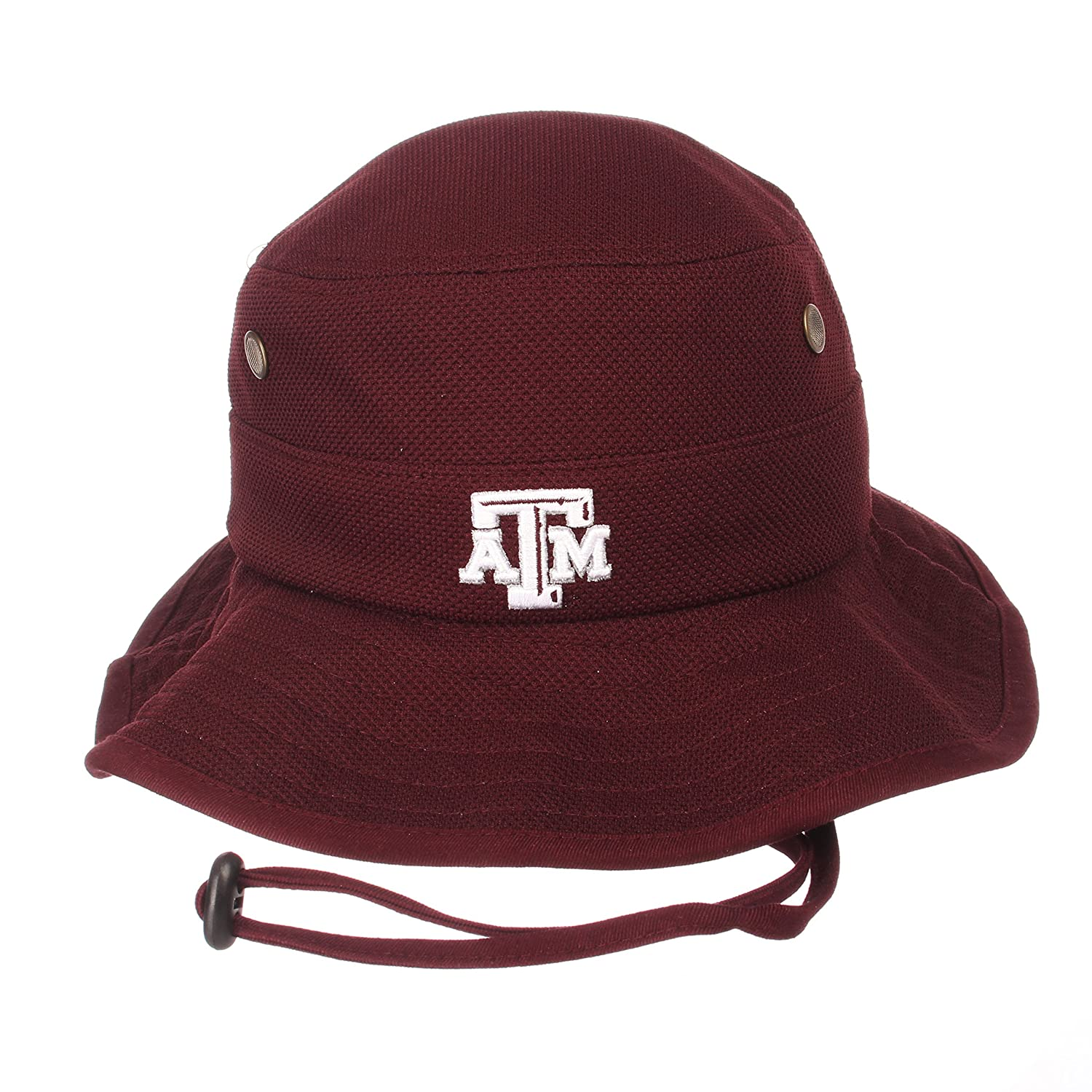 29728ede Amazon.com : Zephyr Men's Texas A&M Aggies Coach Bucket Action Grid Stretch  FIT HAT Maroon L : Sports & Outdoors