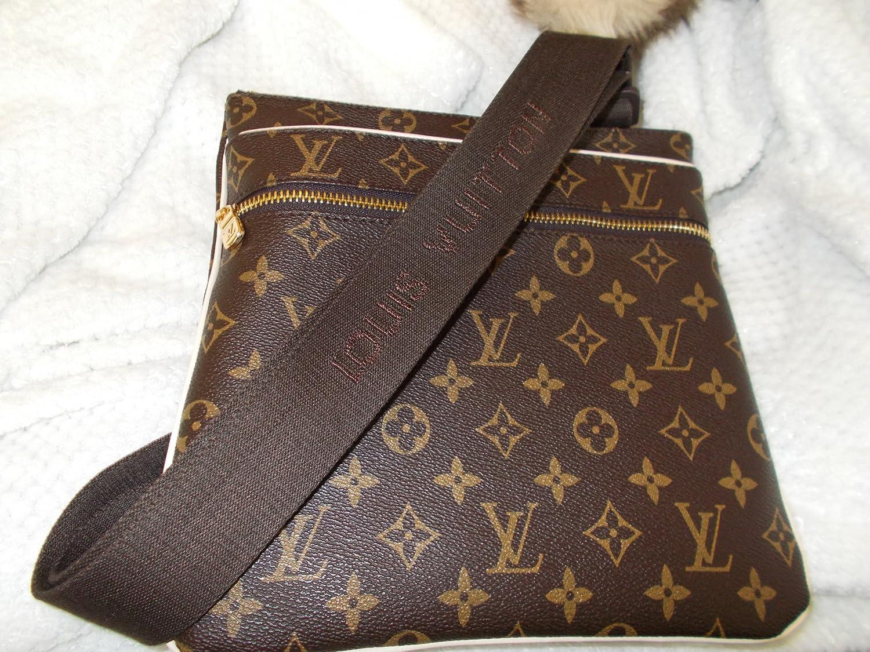 Louis Vuitton - Cartera de mano de cuero para hombre Monogram: Amazon.es: Zapatos y complementos