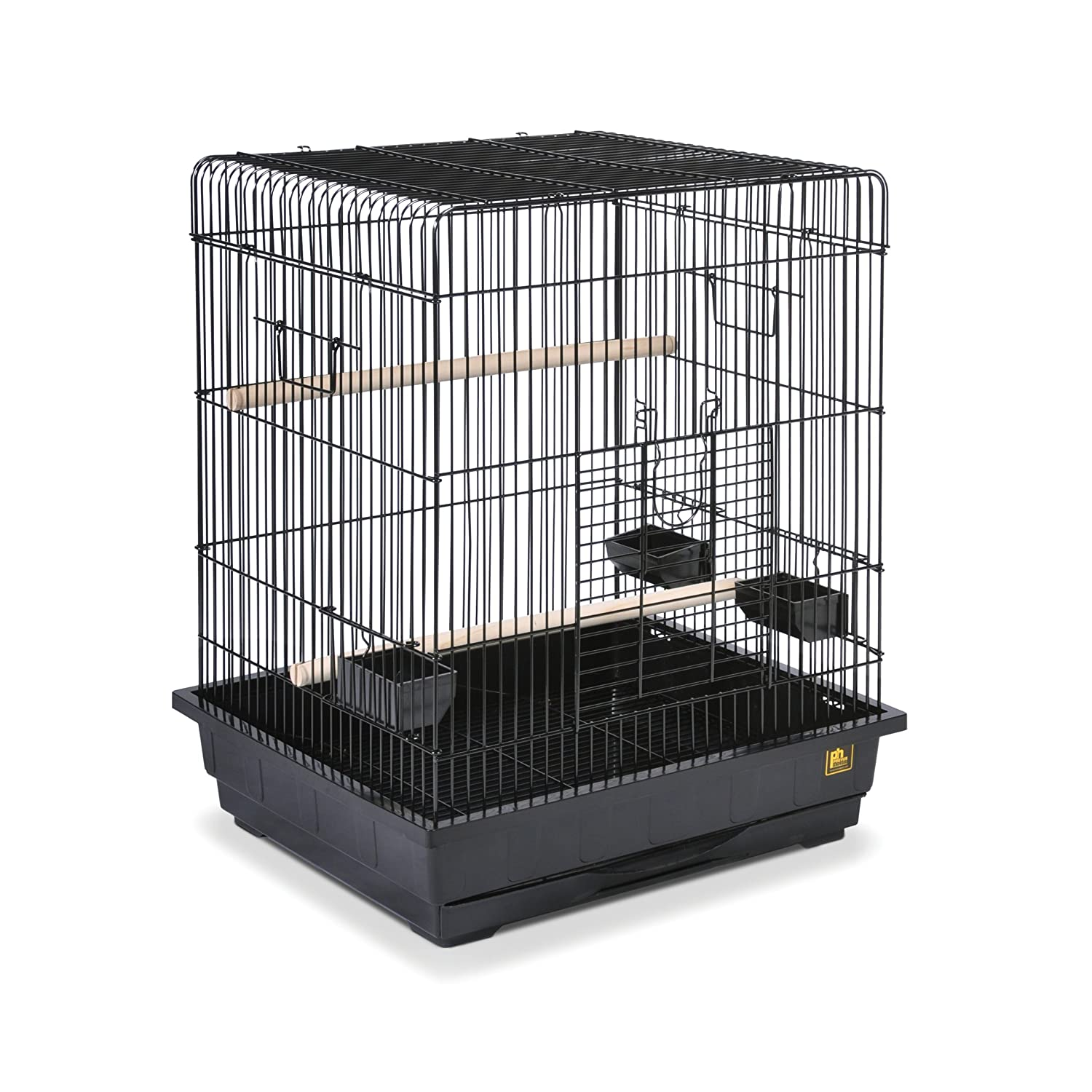 Prevue Pet Products Square Roof Parred Cage, Black