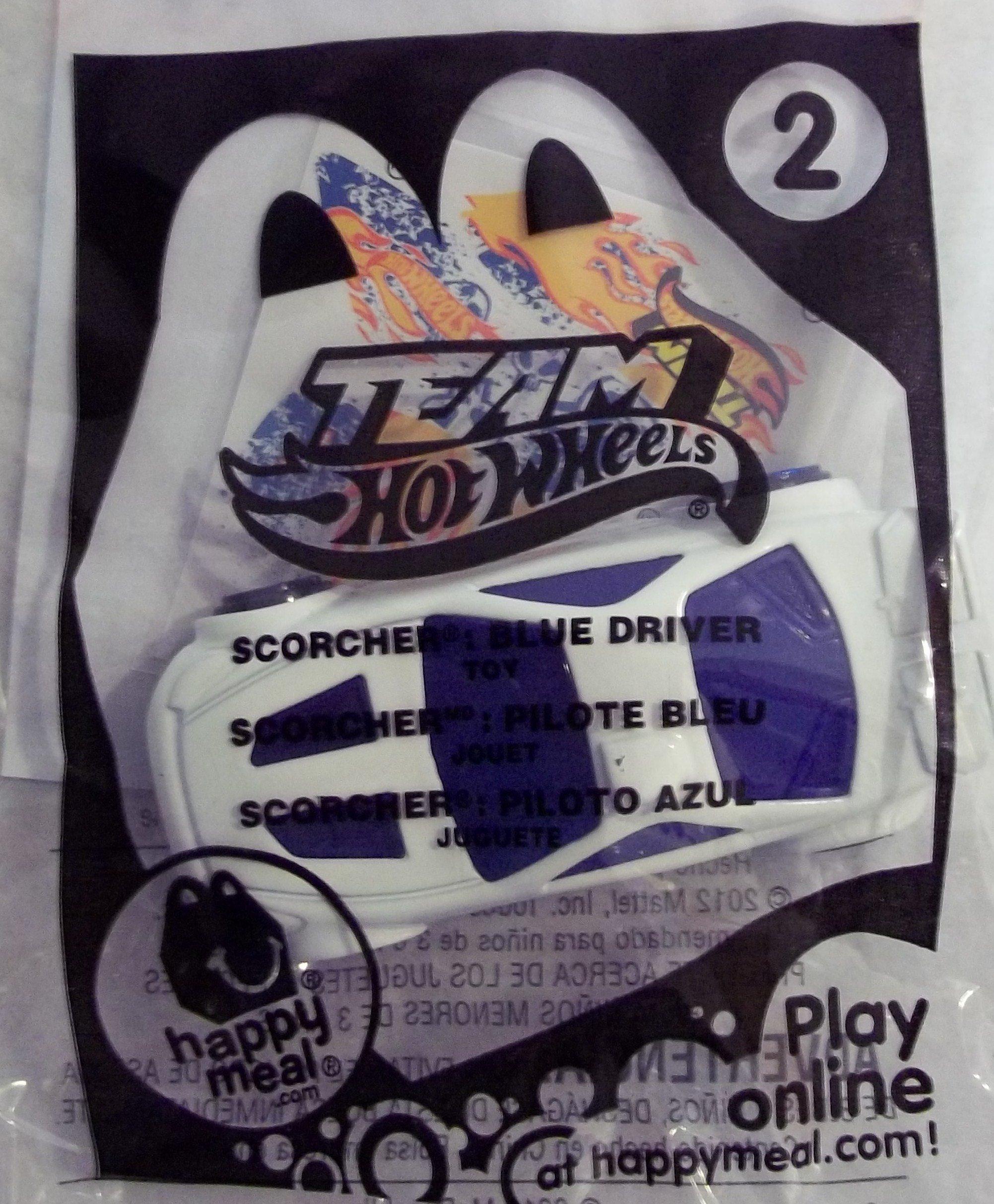 2012 McDonalds Team Hot Wheels - # 2 Scorcher Blue Driver