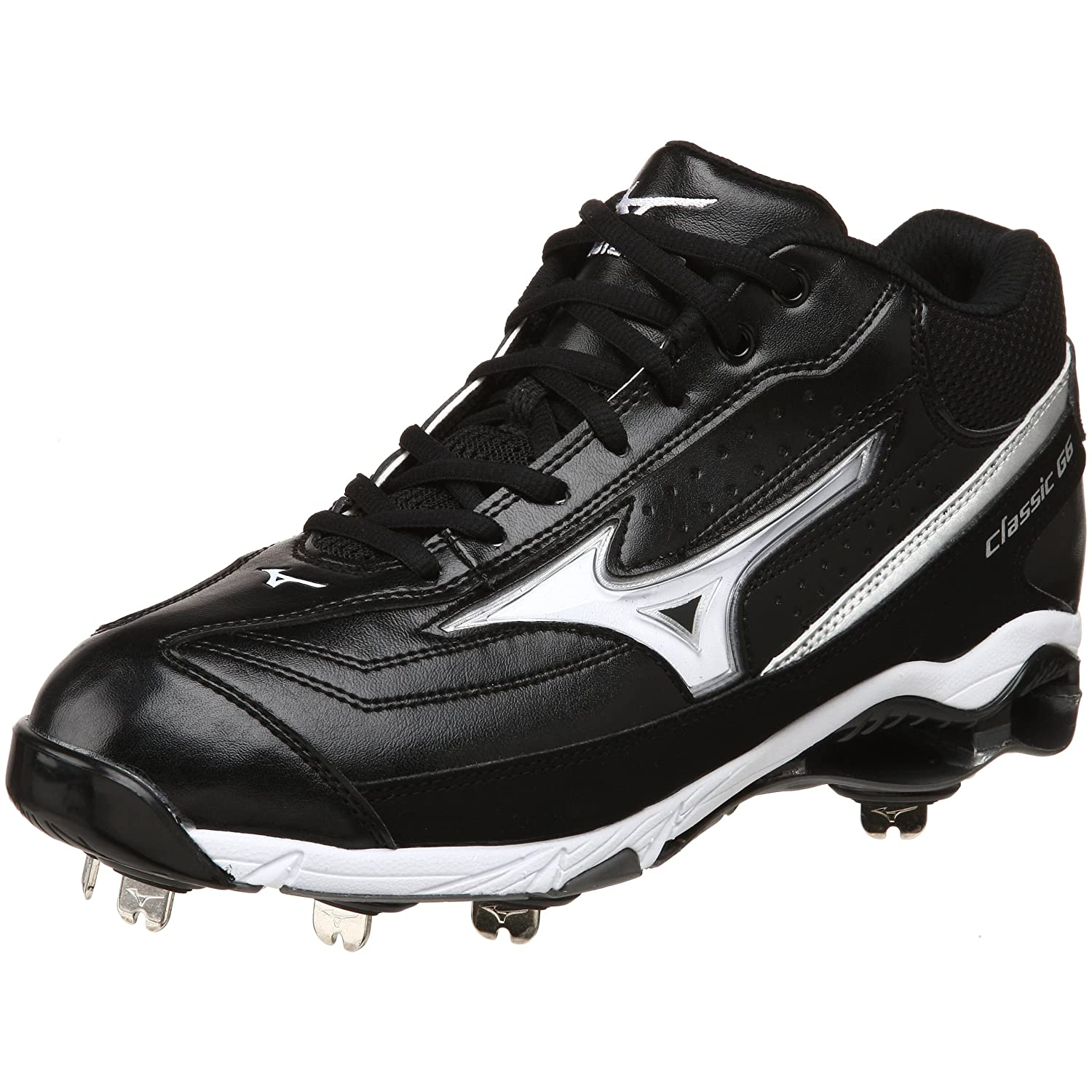 mizuno men s 9 spike classic g6 mid switch baseball
