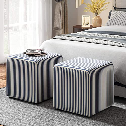 JustRoomy 2 Pieces Square Accent Ottoman