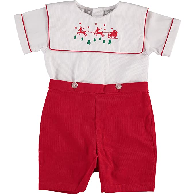 1940s Children's Clothing: Girls, Boys, Baby, Toddler Carriage Boutique Boys Reindeer Bobbie Suit $39.00 AT vintagedancer.com