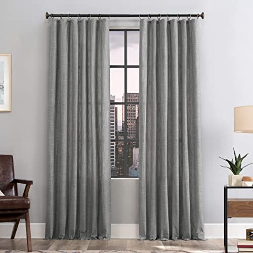 Scott Living Delton Stonewashed Cotton Semi-Sheer Ring Top Curtain Panel