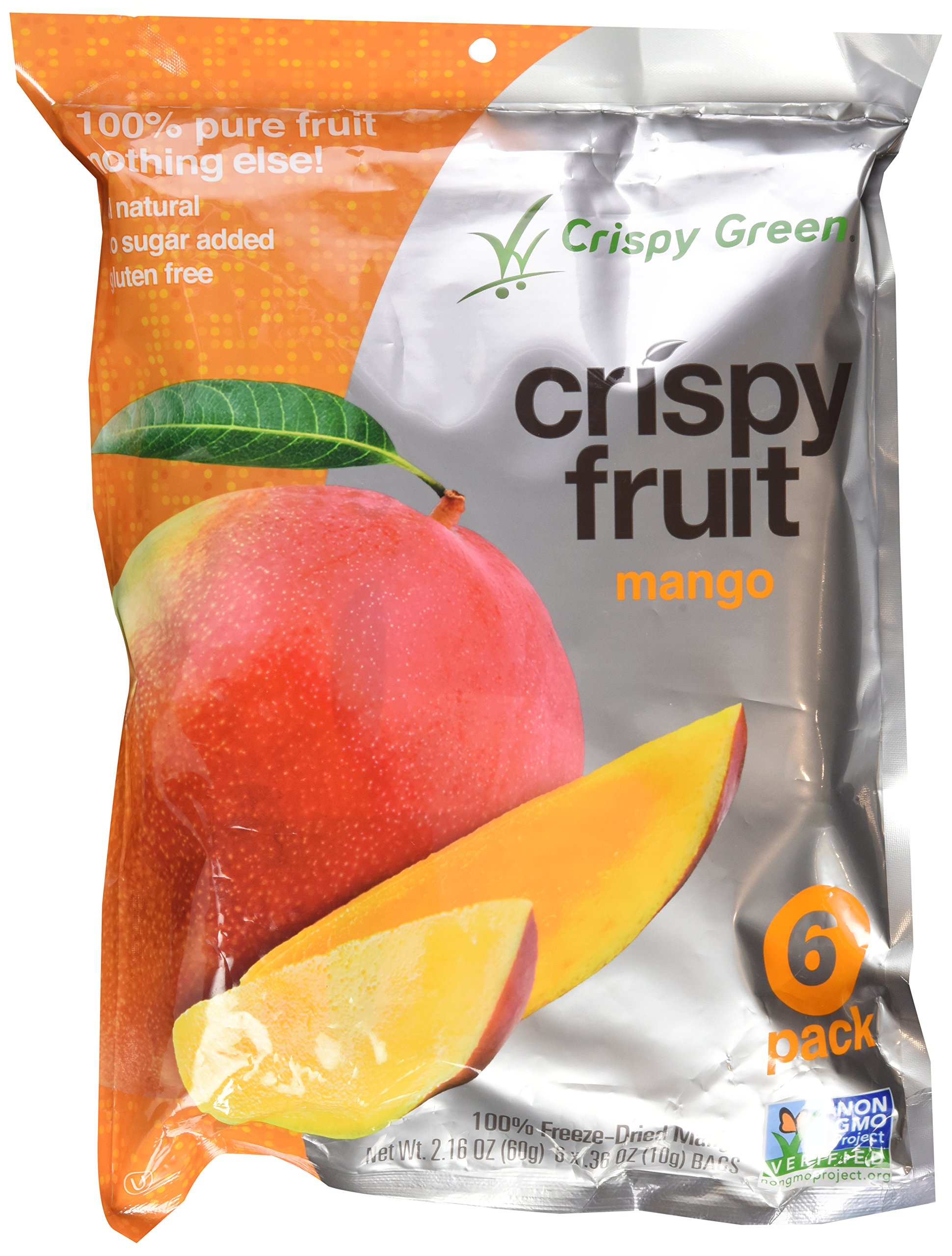 Crispy Green Dried Crispy Mango Fruit, 0.36 Ounce (Pack of 12)