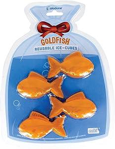 Paladone Goldfish Reusable Ice Cubes, Orange