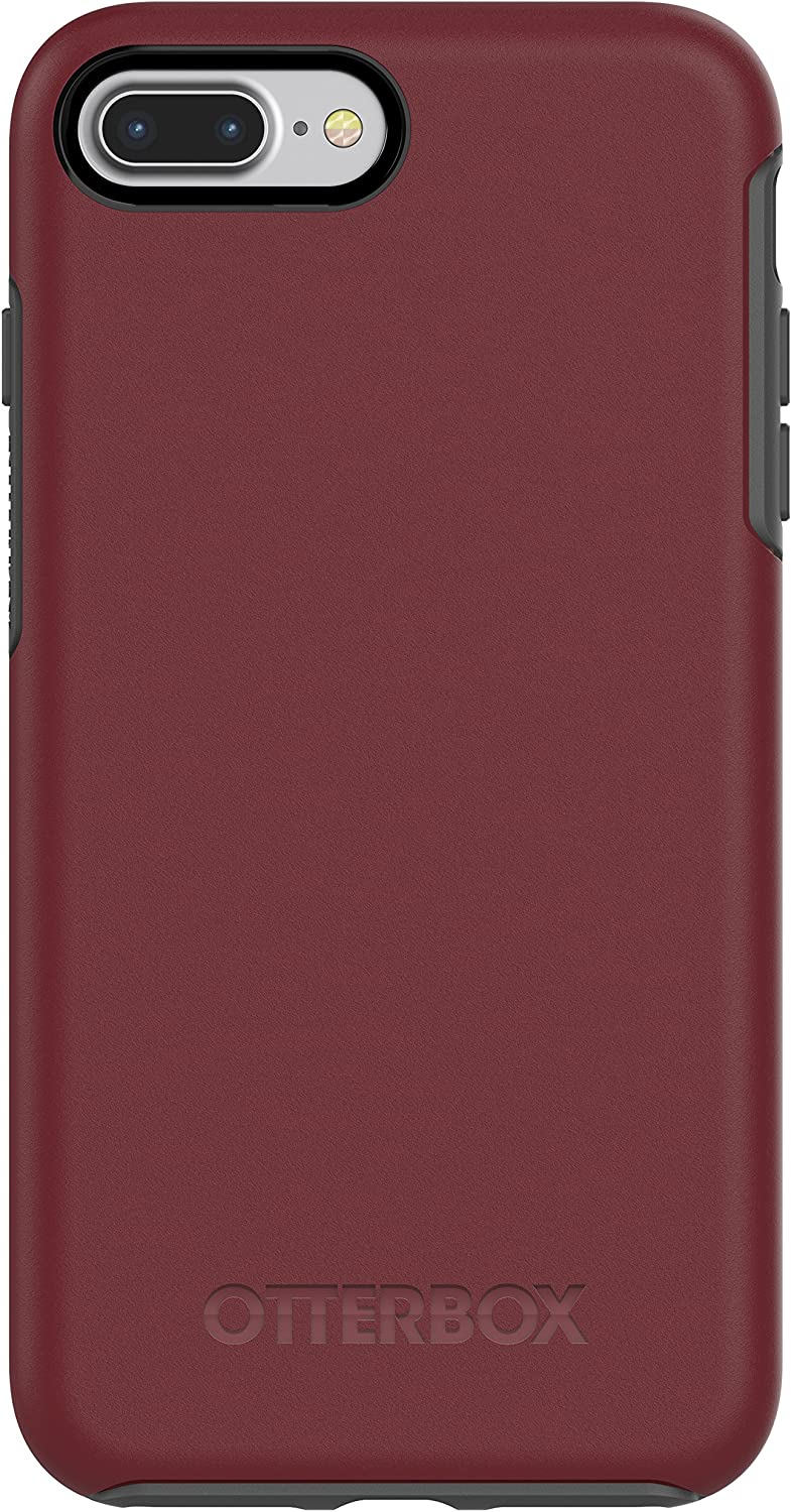 OtterBox SYMMETRY SERIES Case for iPhone 8 PLUS & iPhone 7 PLUS (ONLY) - Retail Packaging - FINE PORT (CORDOVAN/SLATE GREY)