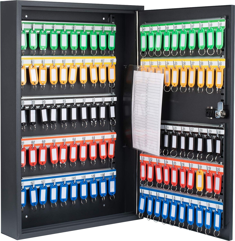 BARSKA 100 Position Adjustable Key Cabinet with Combo Lock Adjustable Key Cabinet, Black