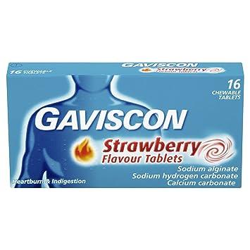 Amazon.com: Gaviscon Fresa Sabor Chewable tabletas – Pack de ...