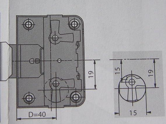 1 St/ück Dornma/ß 40 mm gleichschlie/ßend HKB /® Nutbart-Aufschraubschloss 89085