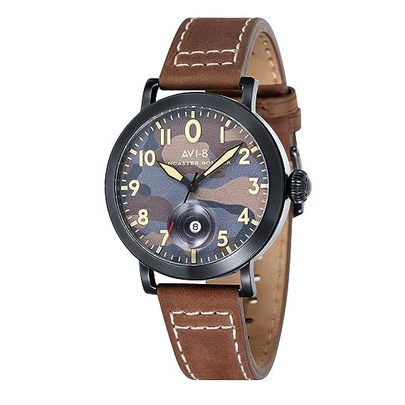 AVI-8 Reloj para Hombre de con Correa en Cuero AV-4020-06: Amazon.es: Relojes